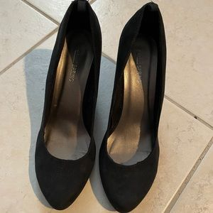 Black Suede Wedge Shoes Call it Spring